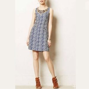Anthropologie Mulberry Road Beaded Sheath Dress